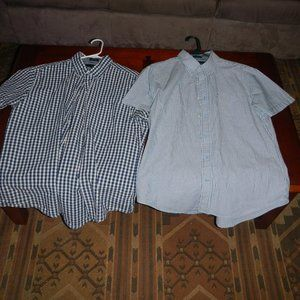 TWO Tommy Hilfiger Short Sleeve Button Up Shirt
